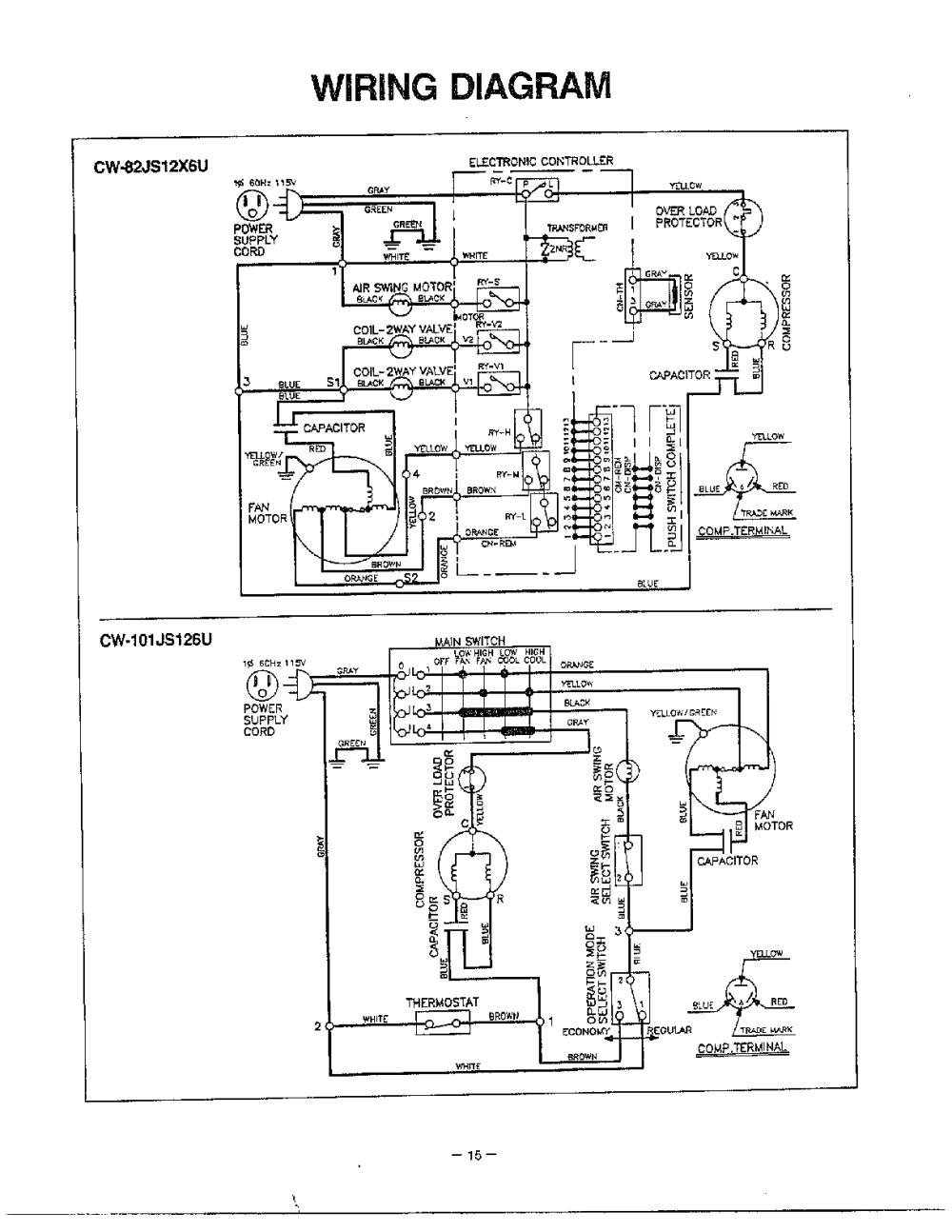 medium resolution of panasonic window type aircon wiring diagram