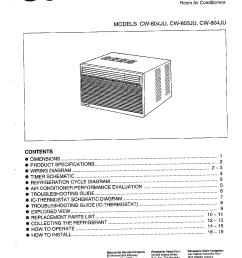 panasonic air conditioner wiring diagram [ 1224 x 1584 Pixel ]