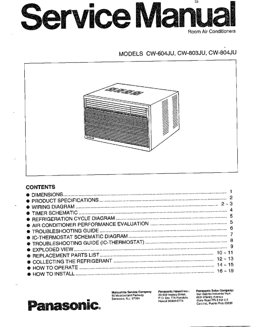 small resolution of panasonic air conditioner wiring diagram