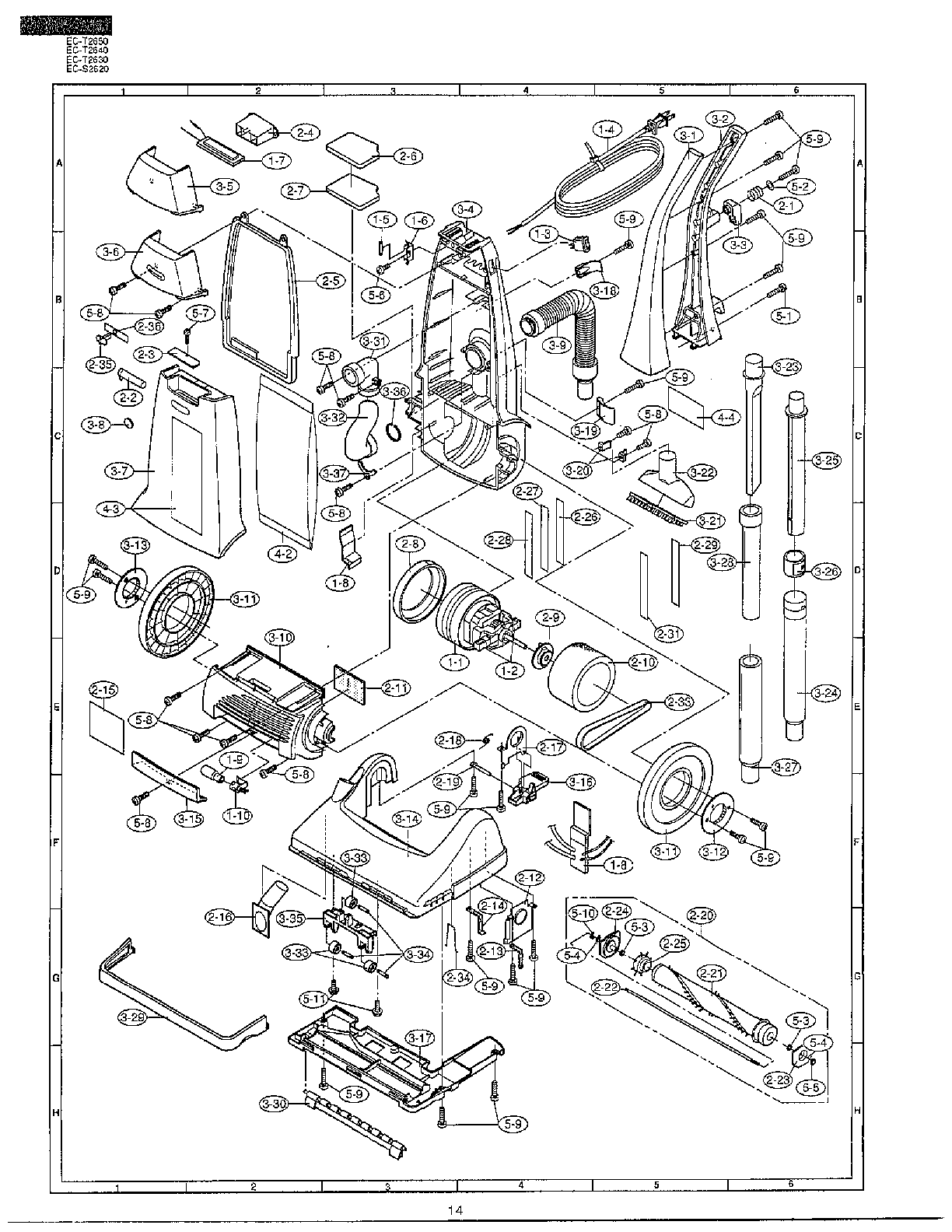 Vacuum Parts: Sharp Vacuum Parts