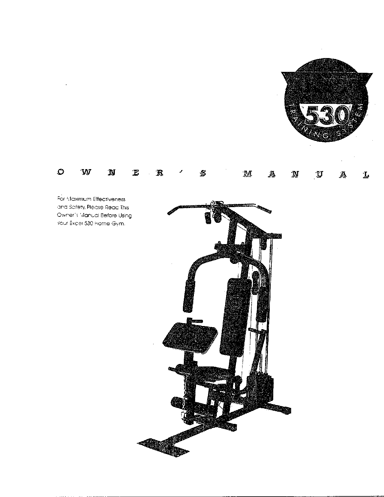 FITNESS QUEST Fitness Quest Excel 530 Home Gym Parts
