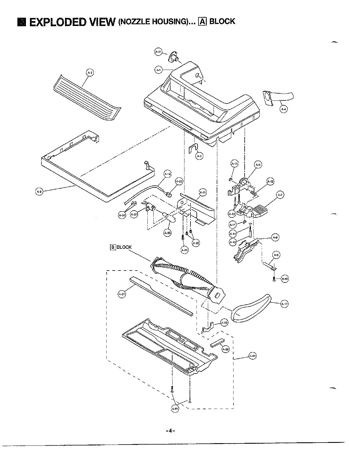 Vacuum Parts: Panasonic Vacuum Parts