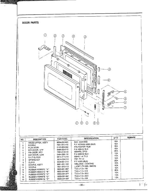 small resolution of samsung samsung microwave oven parts model mw5350w xaa sears rh searspartsdirect com amana radarange microwave oven parts diagram sharp microwave oven parts