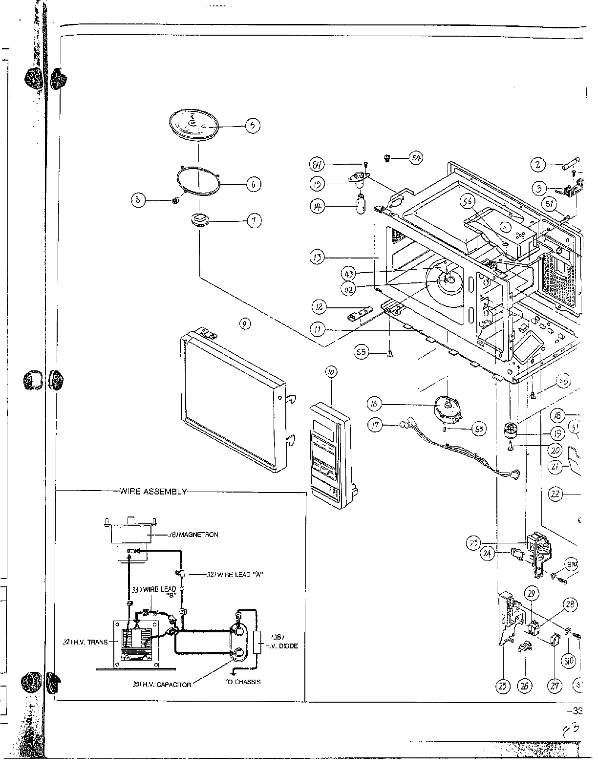 Samsung Microwave Parts Diagram