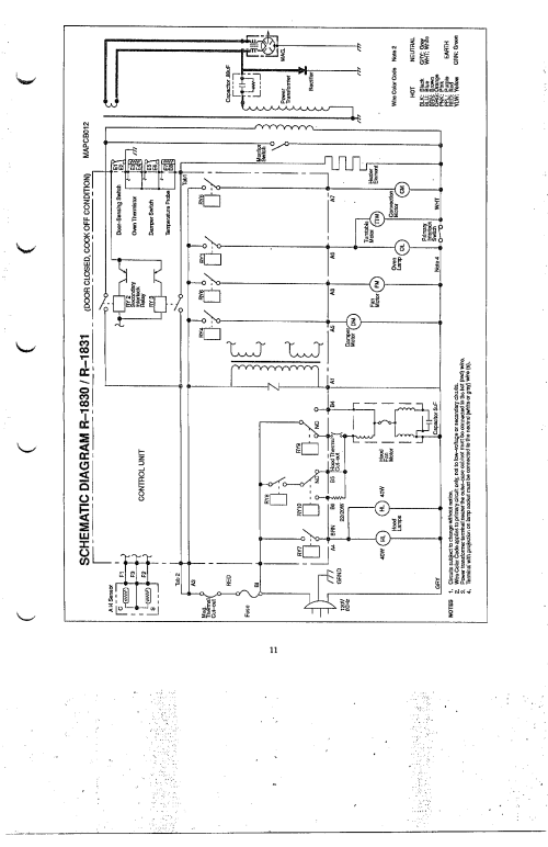small resolution of looking for sharp model r 1830 microwave hood combo repair wiring diagram sharp r 1830