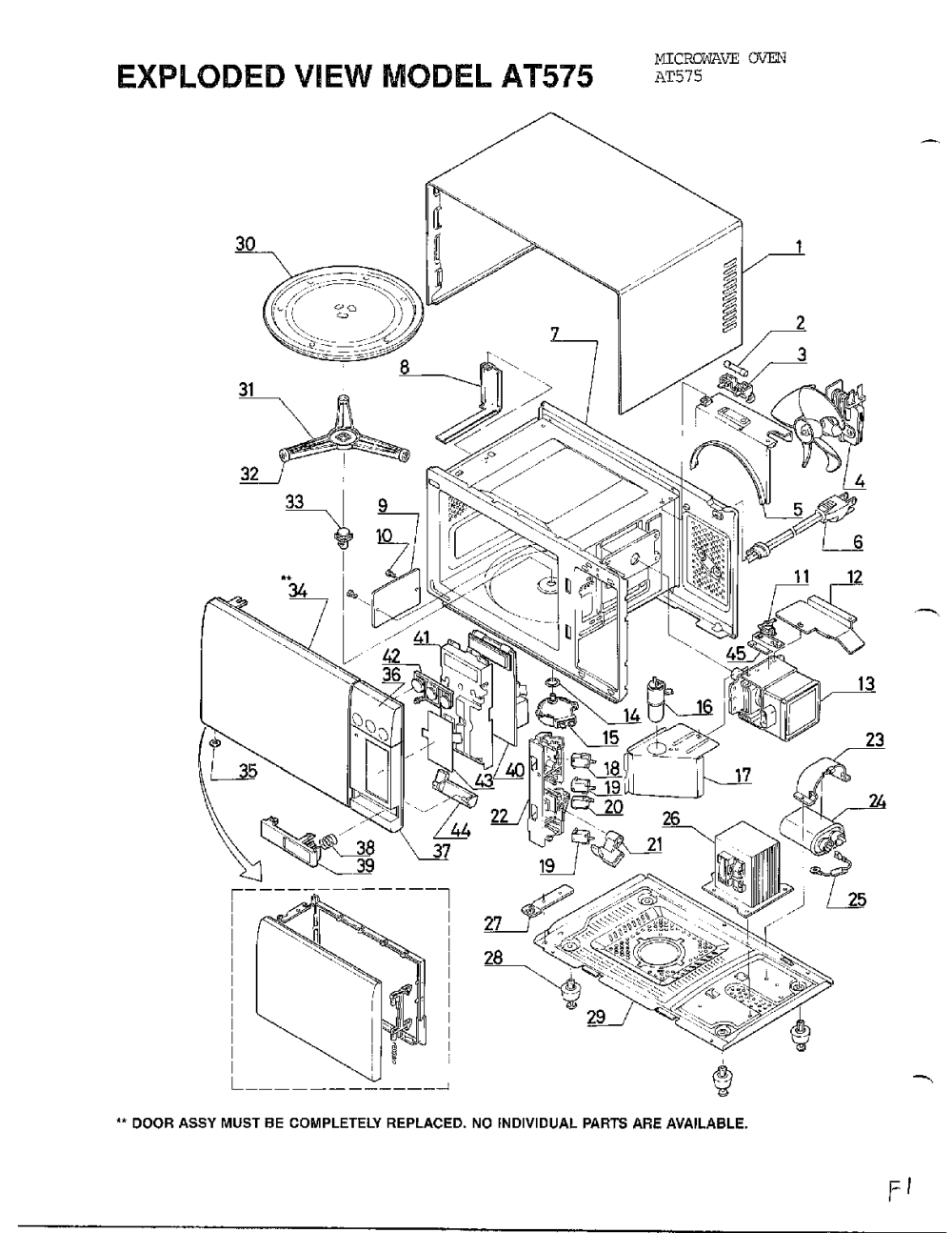 medium resolution of microwave assembly diagram and parts list for emerson microwaveparts