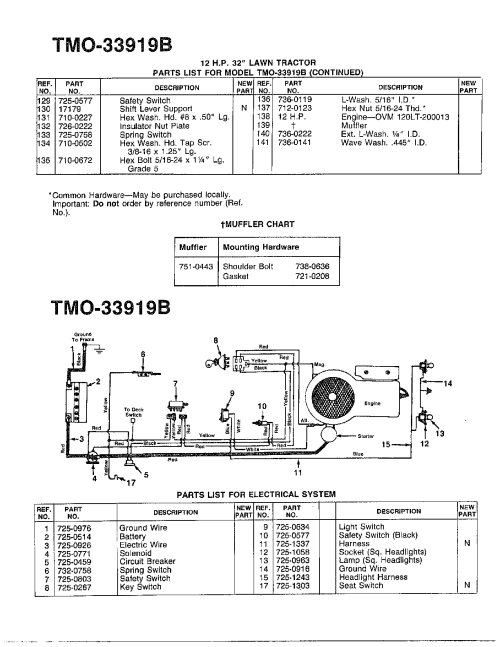 small resolution of mtd 138 350 088 electrical system diagram