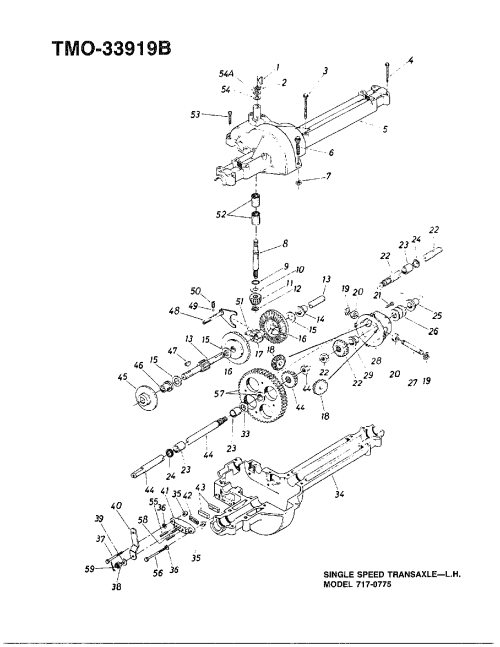 small resolution of mtd 138 350 088 single speed transaxle left hand diagram