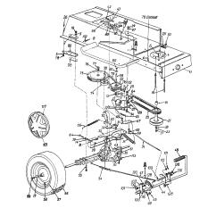 Mtd Yard Machine Parts Diagram Tp 100 Wiring Model 13aq670h088 Lawn Tractor Genuine