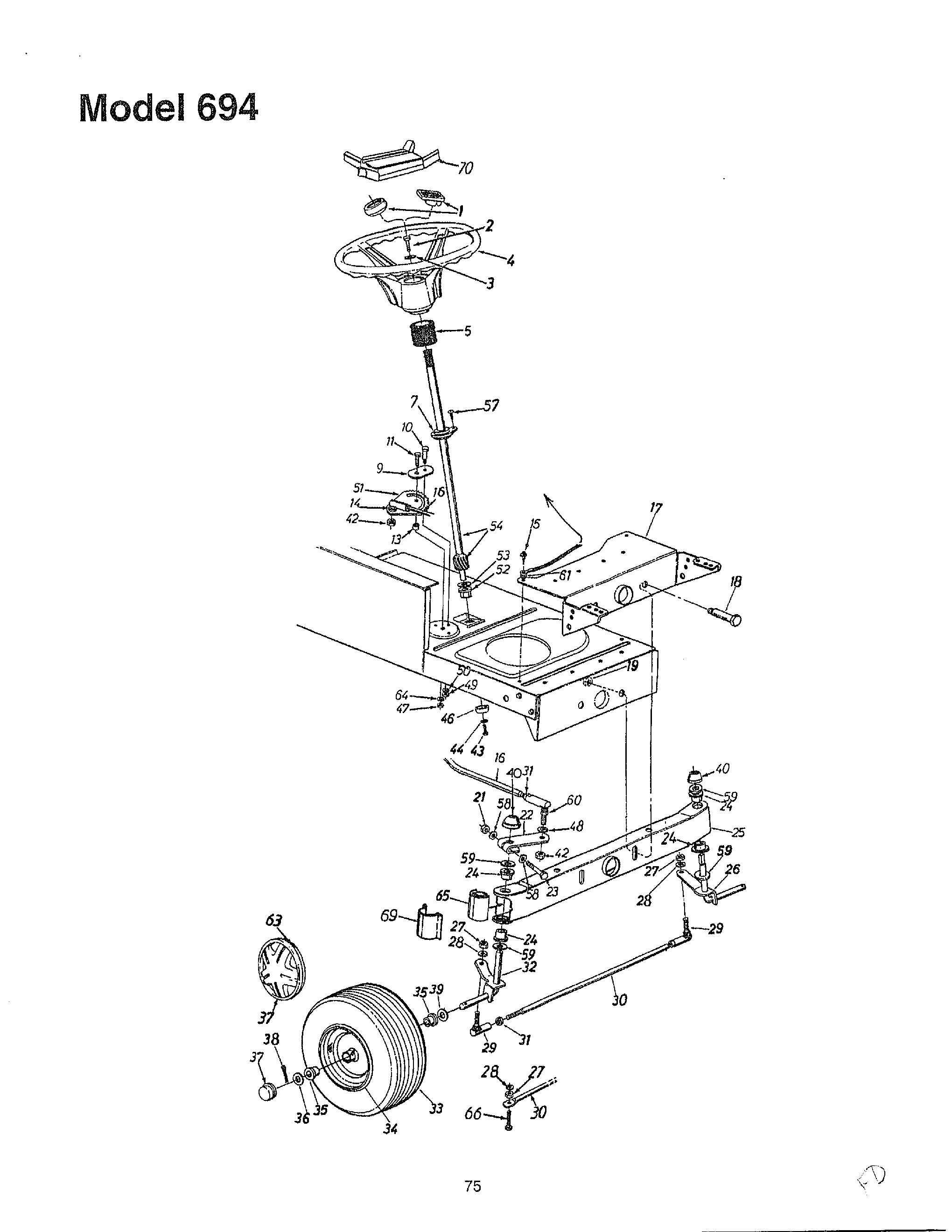 Sears Lawn Tractor Wiring Diagram. Parts. Wiring Diagram