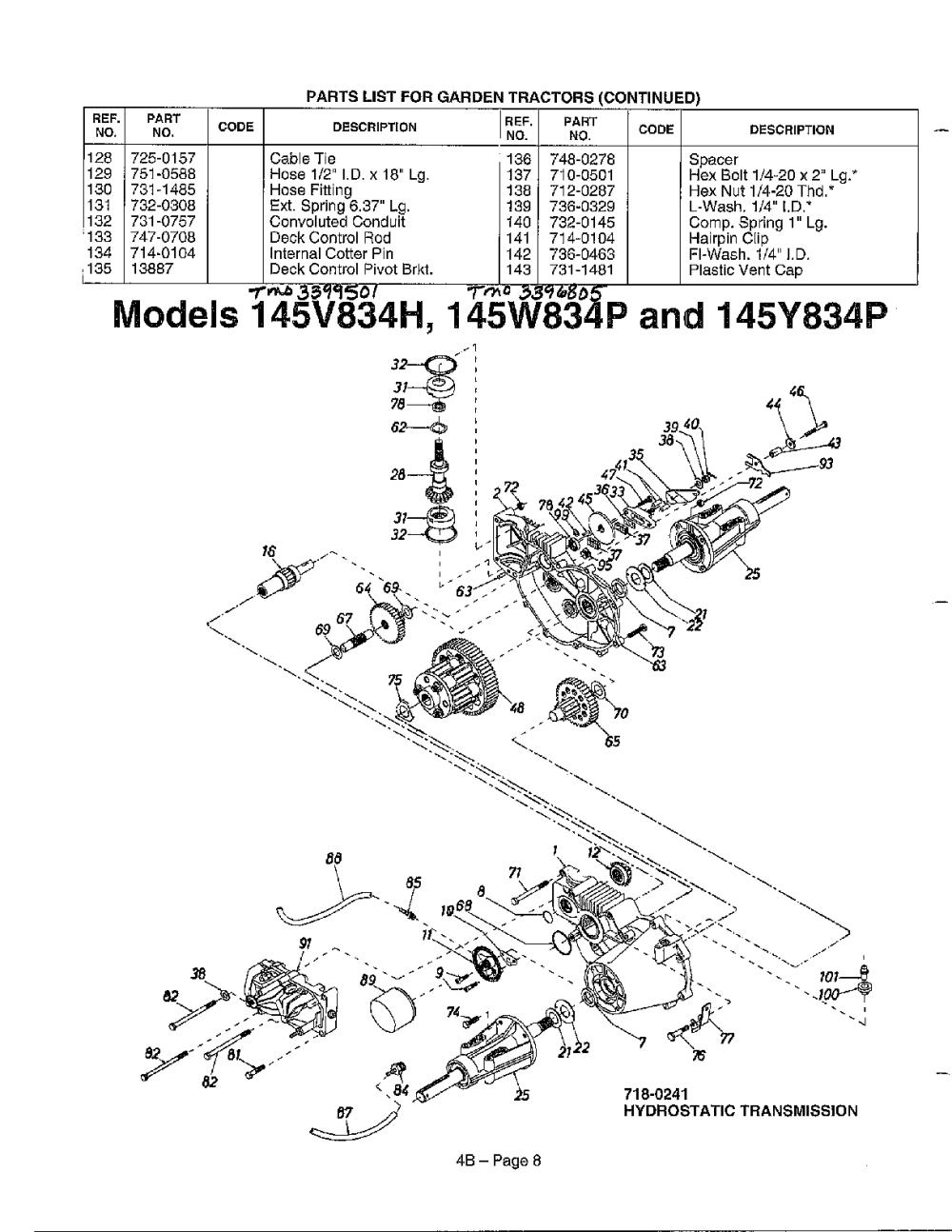 medium resolution of mtd 3396805 hydrostatic transmission diagram