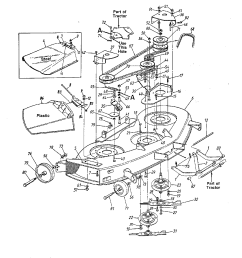 mtd model 19846 mower deck genuine parts rh searspartsdirect com mtd parts manual snowblower mtd parts diagram 1998 [ 1224 x 1584 Pixel ]