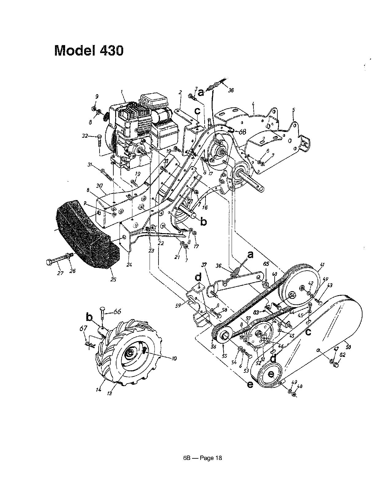 hight resolution of mtd 215 430 000 rear tine tiller page 6 diagram