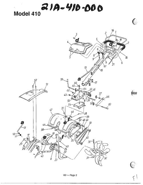 small resolution of mtd 21a 410 000 tiller diagram
