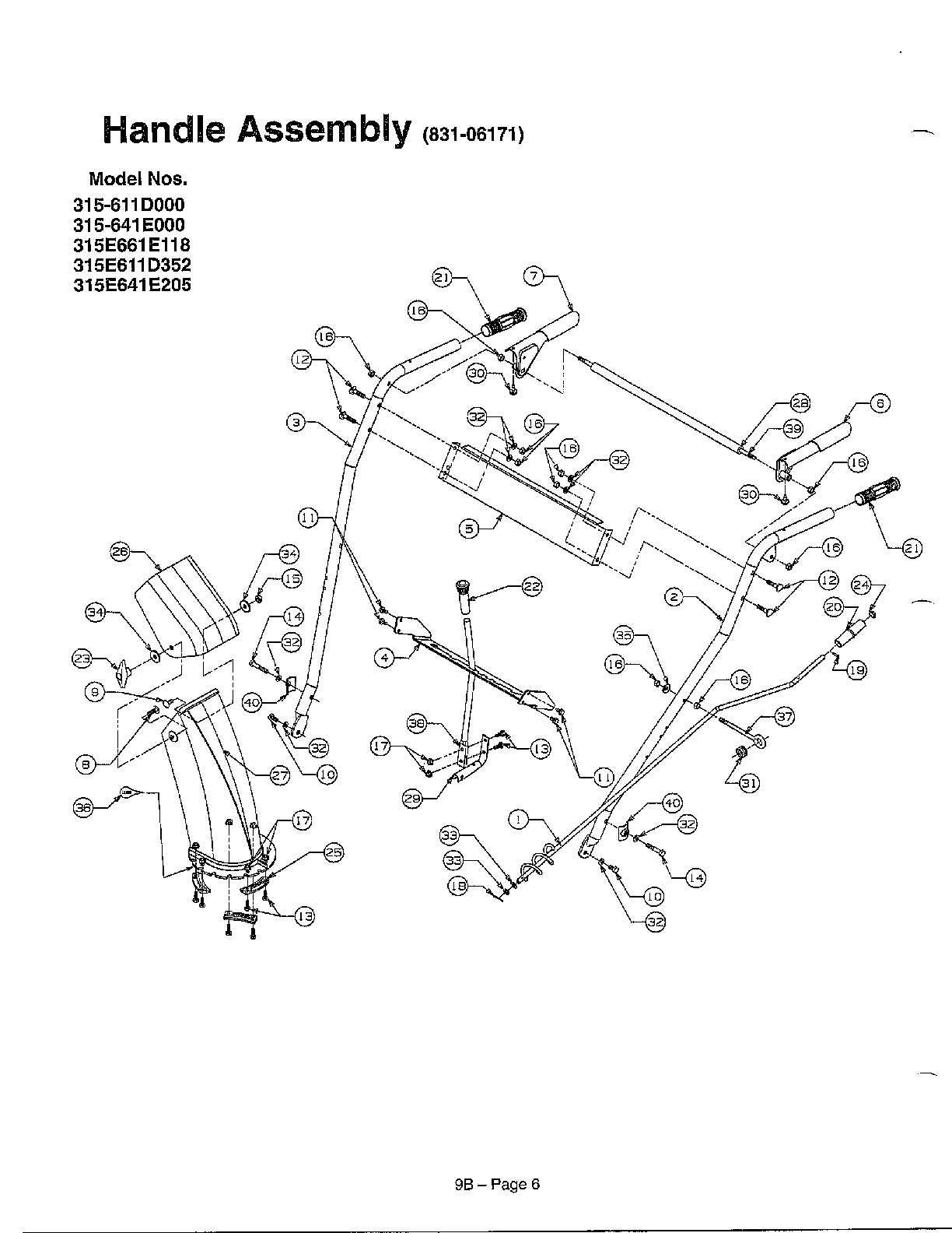 Sears Snow Blower Parts Diagram, Sears, Free Engine Image