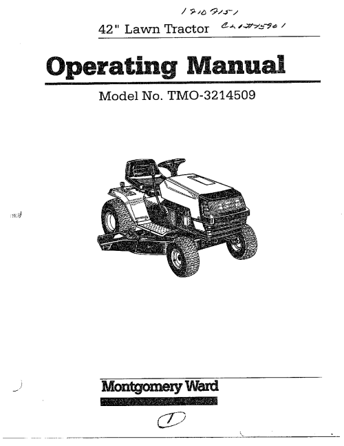 small resolution of mtd model 3214509 lawn tractor genuine parts signature 2000 lawn mower wiring diagram