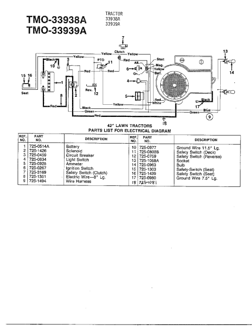 small resolution of mtd wiring schematic wiring diagrams monmtd wiring diagram wiring diagram mtd model 33938a lawn tractor