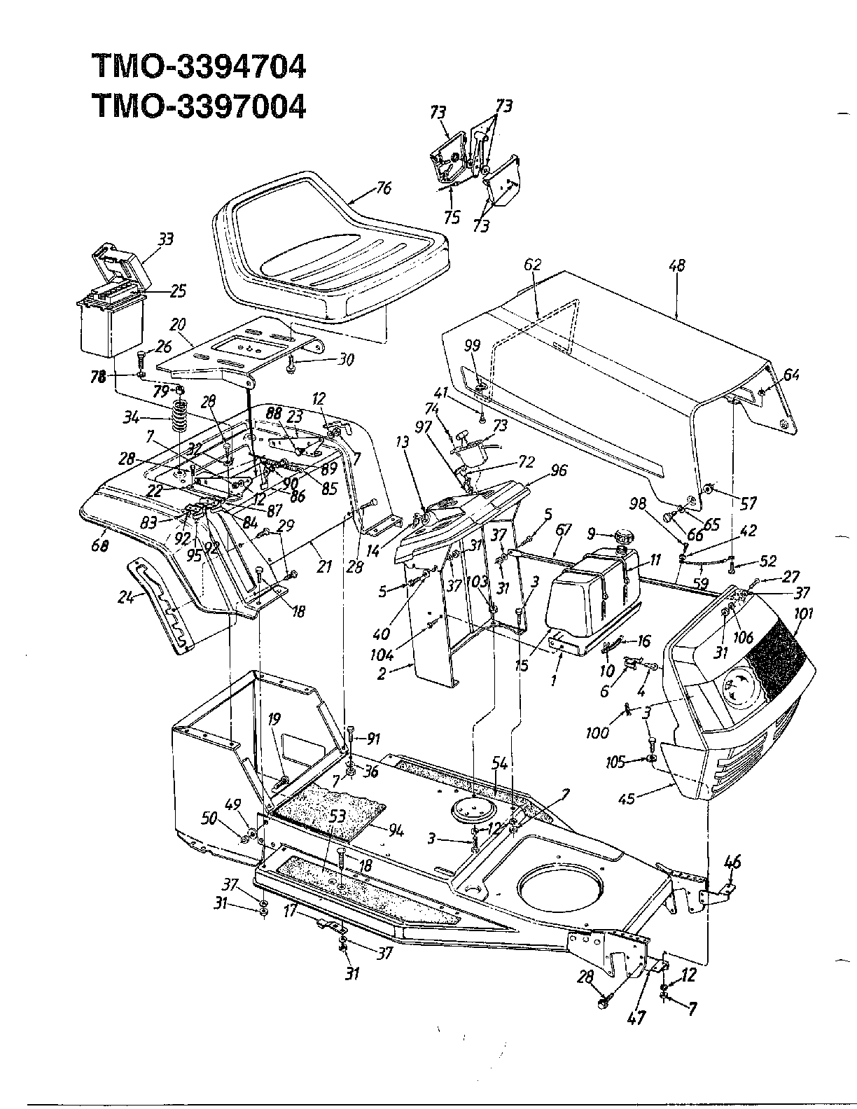 Huskee Riding Lawn Mower Parts Diagram, Huskee, Free