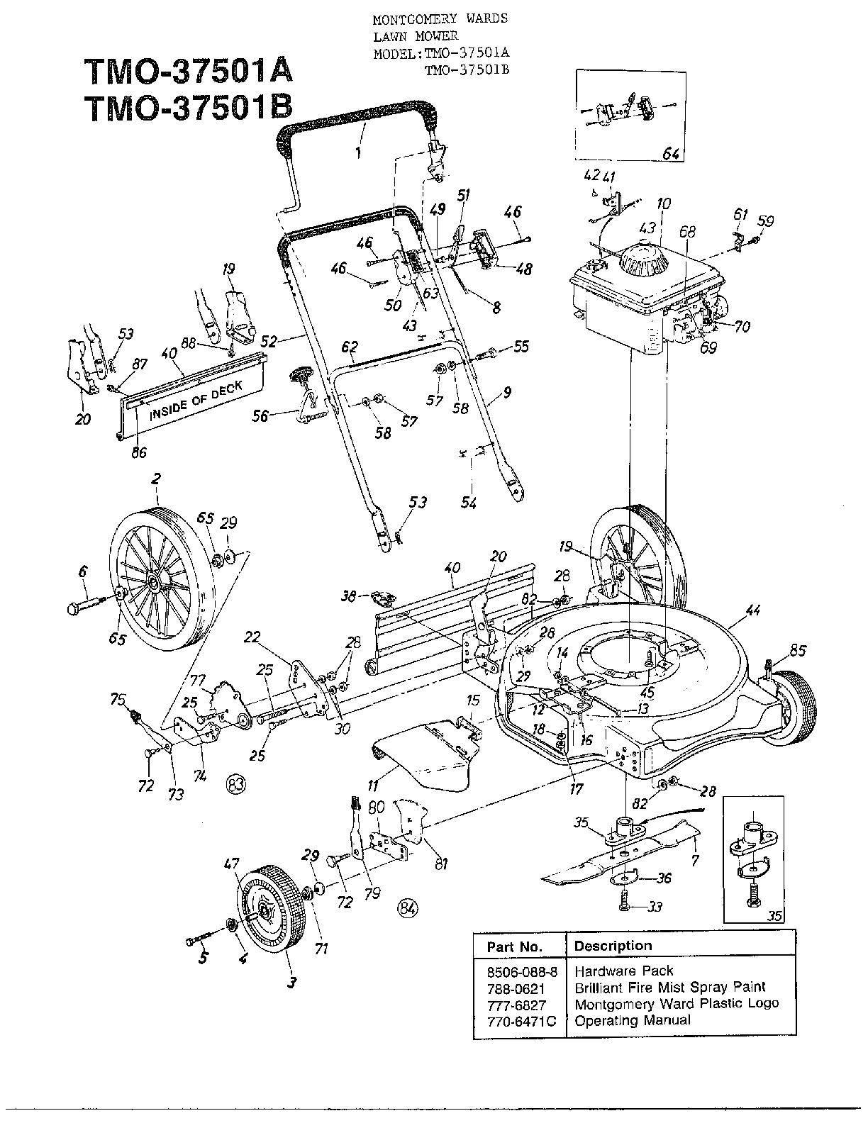 huskee lawn mower parts diagram simplicity sunstar wiring mtd model 37501a sears partsdirect