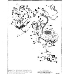 noma model f4316 070 lawn tractor genuine parts lawn tractor electrical system noma lawn tractor wiring diagram [ 1224 x 1584 Pixel ]