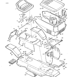 murray 40601a chassis and hood diagram [ 1224 x 1584 Pixel ]