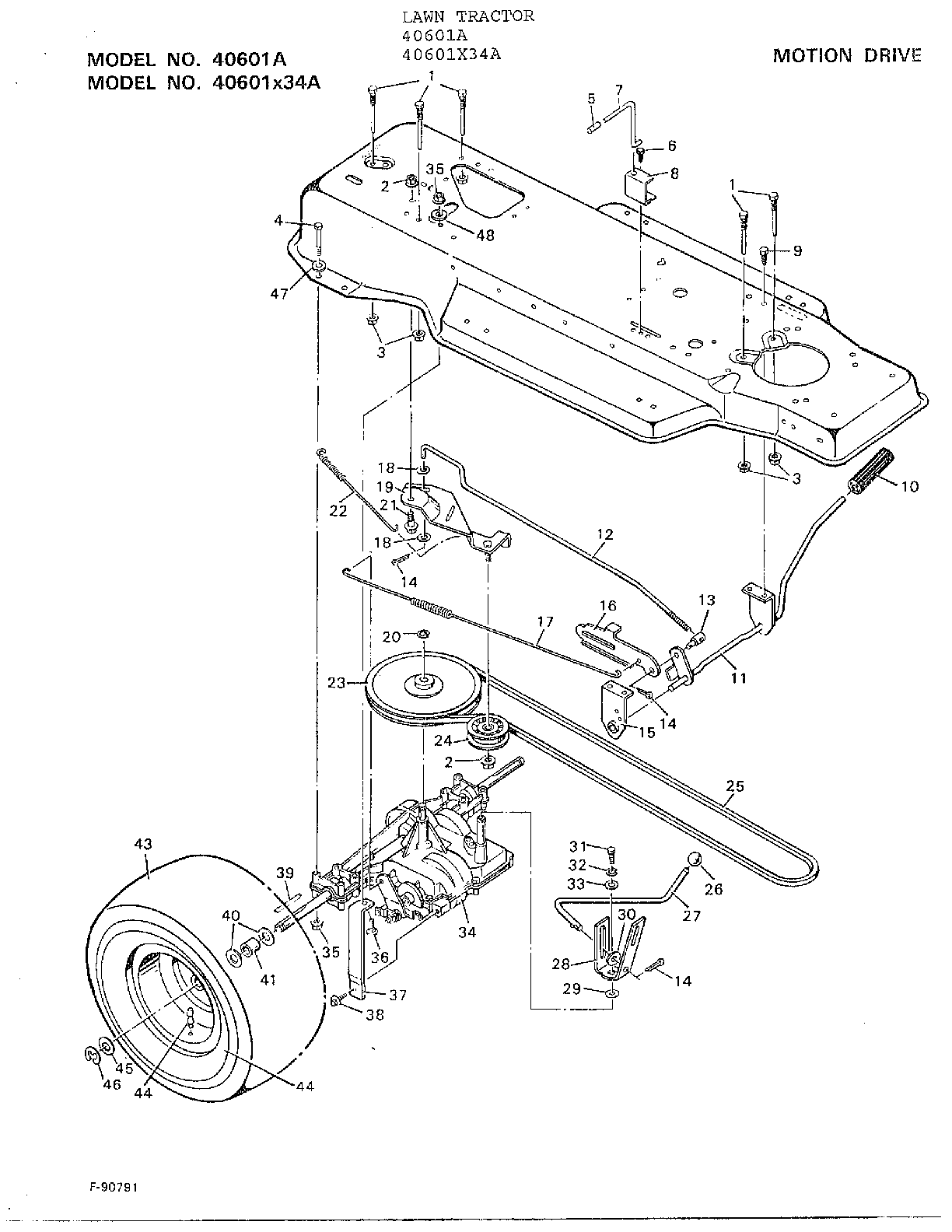 hight resolution of murray 40601a motion drive diagram