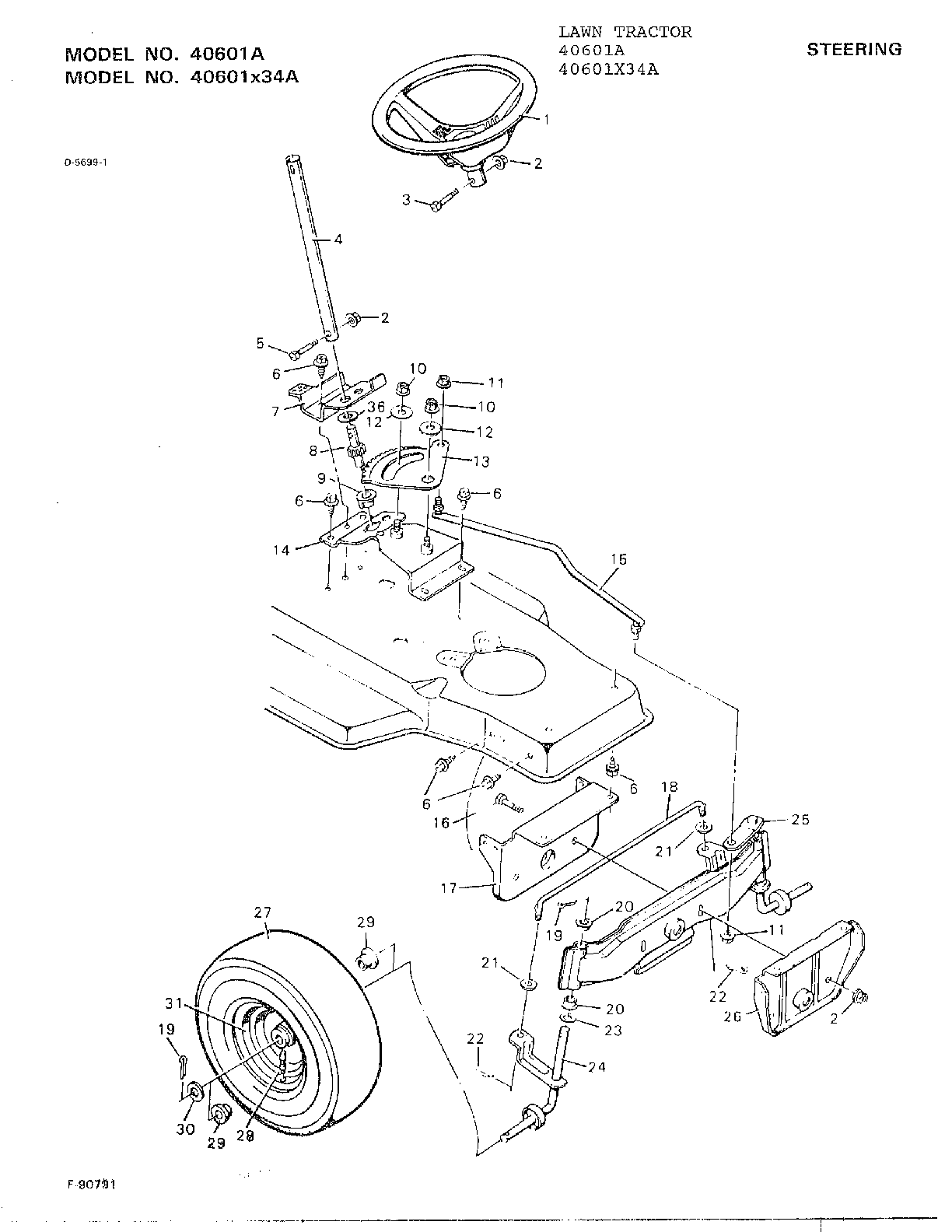 hight resolution of murray 40601a steering diagram