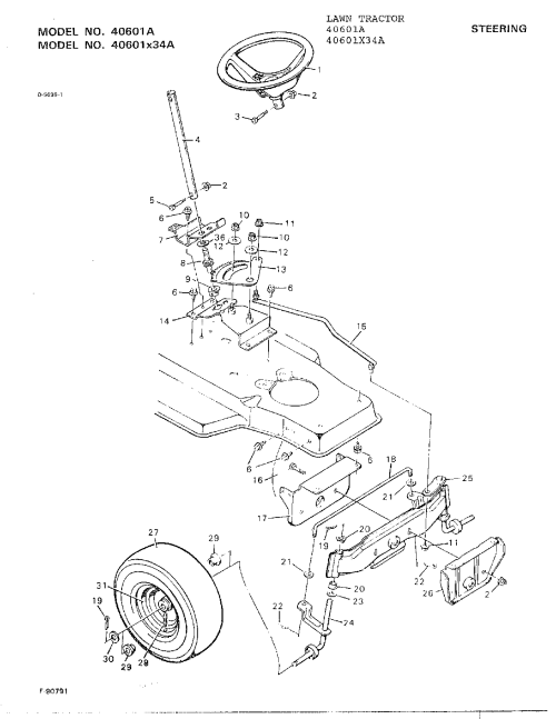 small resolution of murray 40601a steering diagram