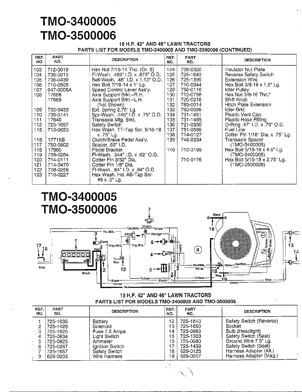hight resolution of murray model 42170x9a lawn tractor genuine parts rh searspartsdirect com murray engine diagram 12 volt solenoid wiring diagram