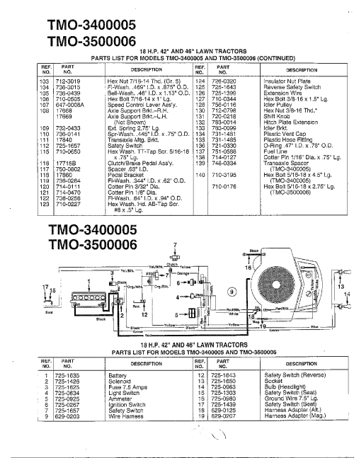 small resolution of murray model 42170x9a lawn tractor genuine parts rh searspartsdirect com murray engine diagram 12 volt solenoid wiring diagram