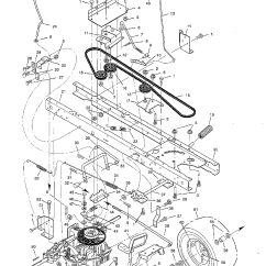 Murray Lawn Mower Drive Belt Diagram What Is Dma Controller With Block 42 Inch Simple