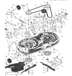 mower housing diagram and parts list for murray walkbehindlawnmower [ 1224 x 1584 Pixel ]
