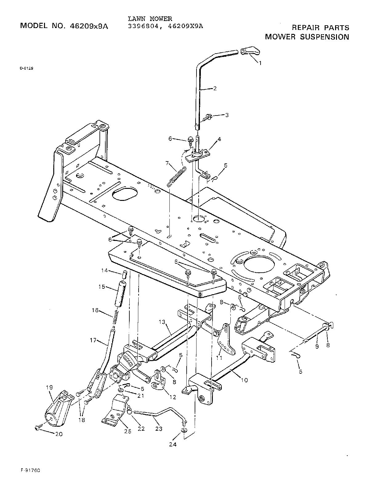 hight resolution of murray 46209x9a mower suspension diagram