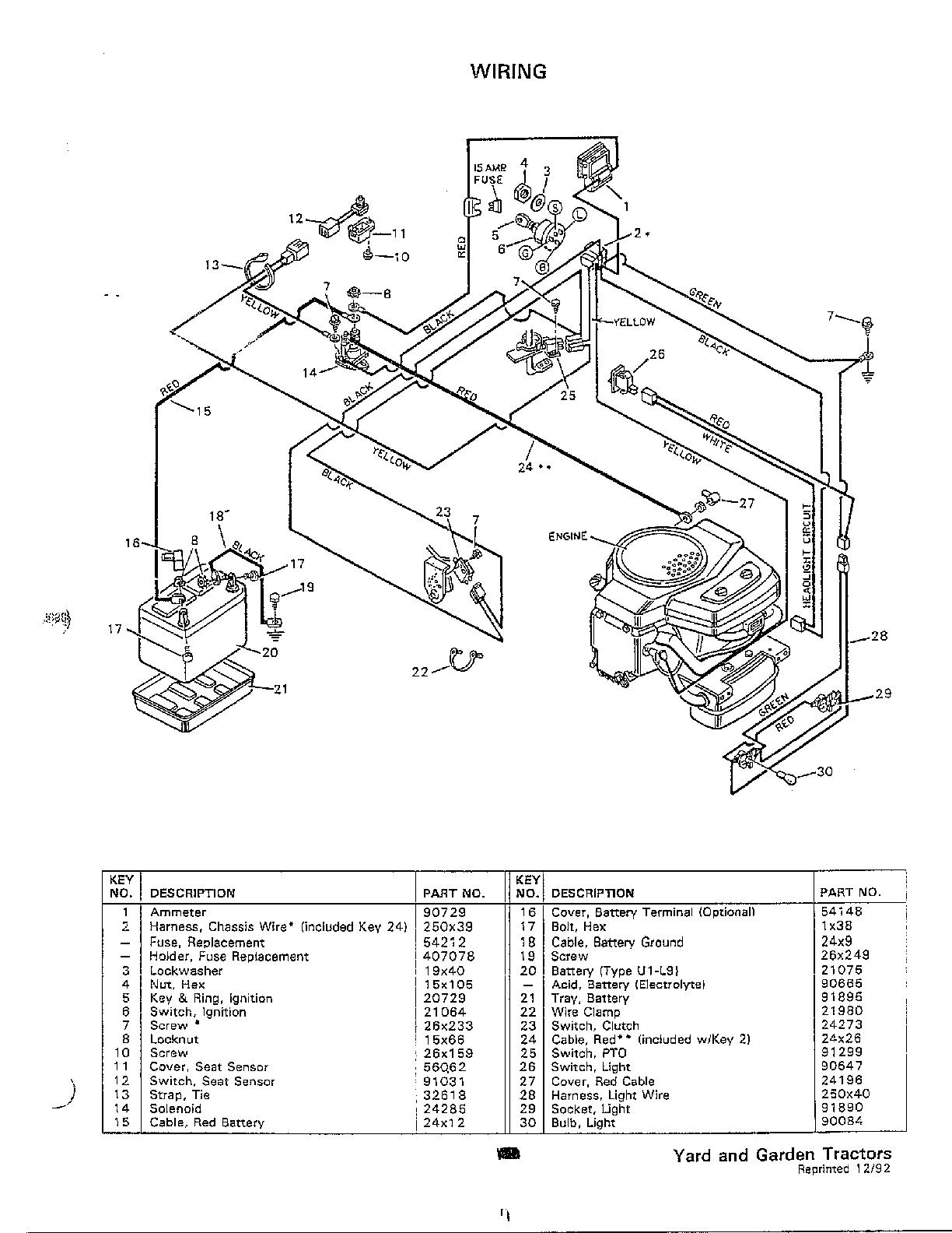 Murray murray yard garden tractors parts model 46300b sears partsdirect