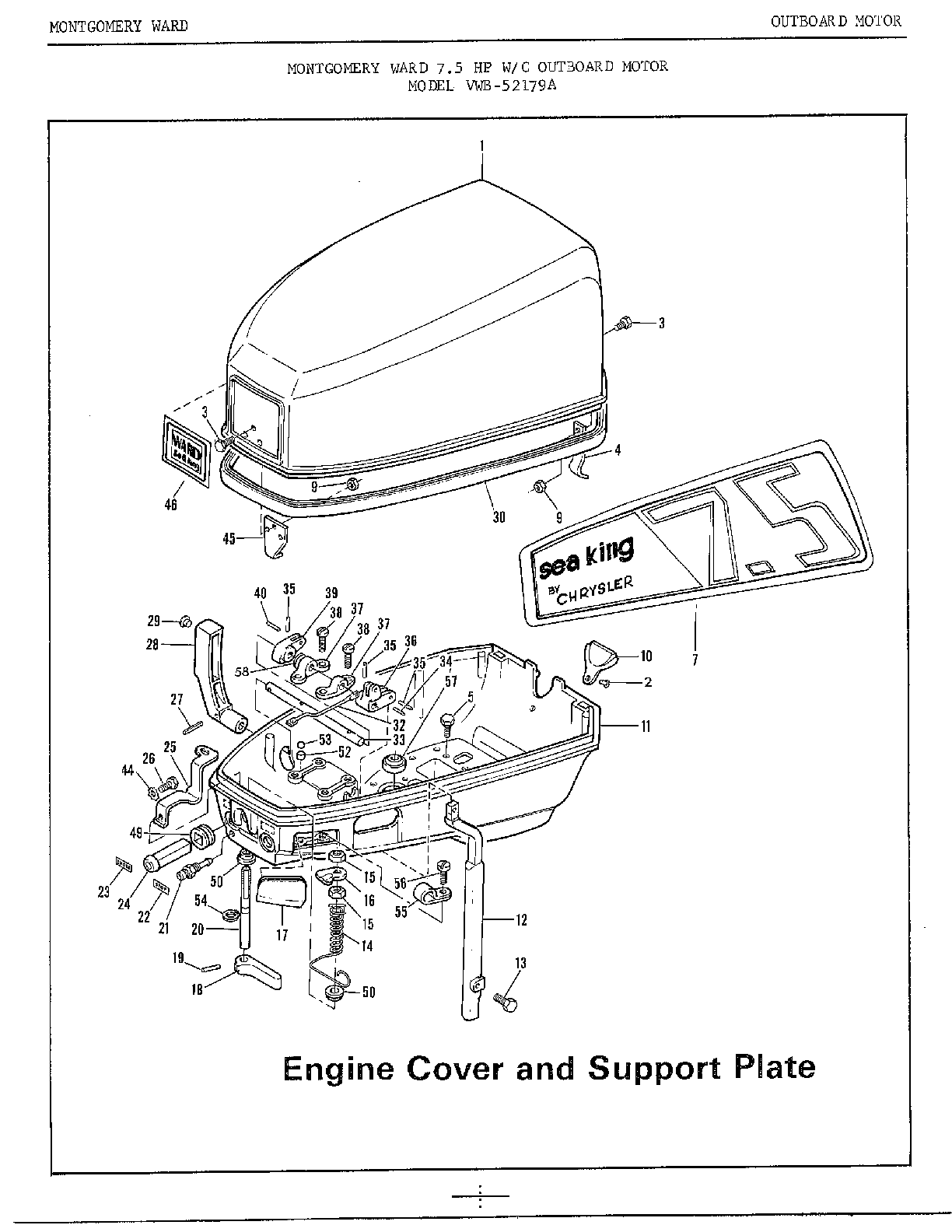 Mercury Outboard Motor Diagram Motor Repalcement Parts And