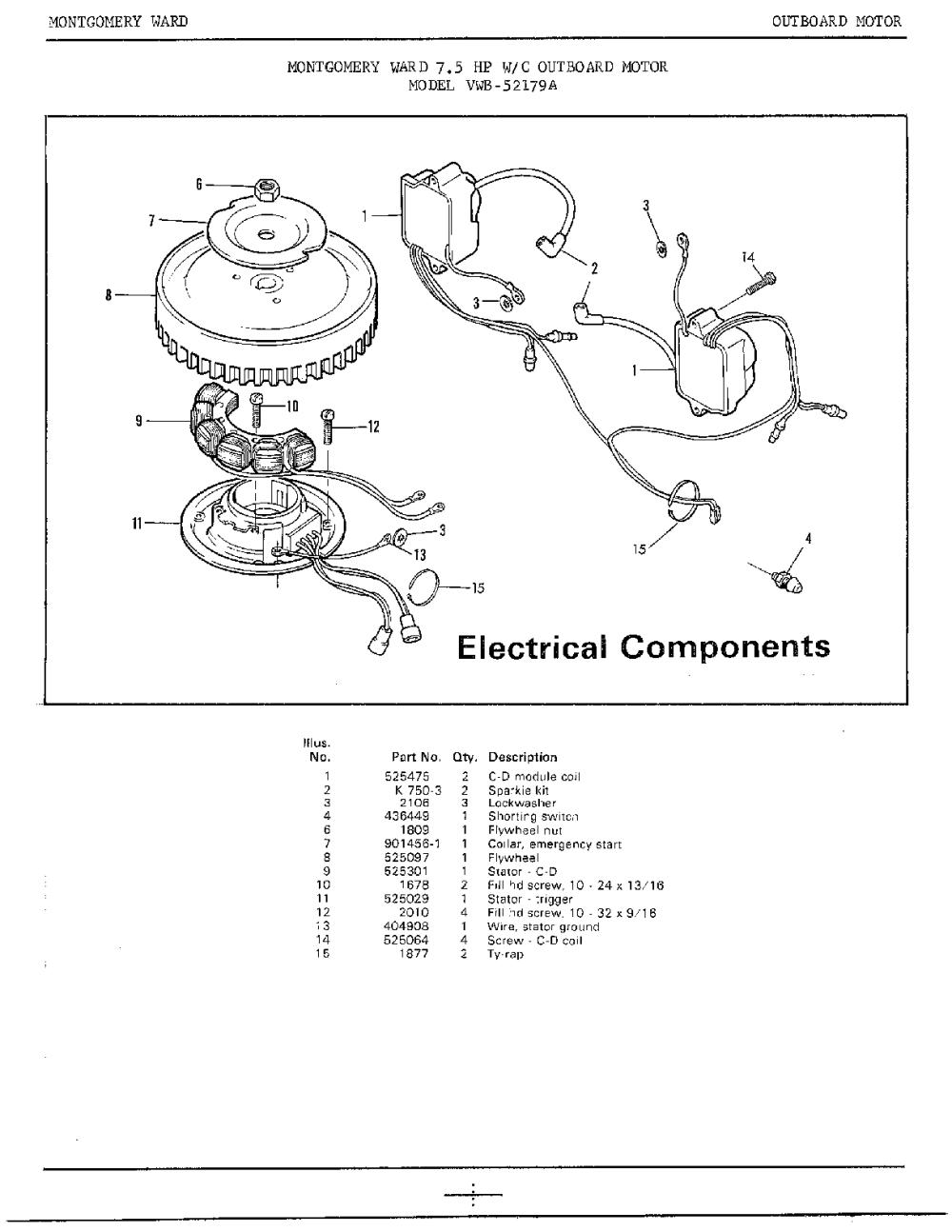 medium resolution of 7 5 mercury outboard schematic