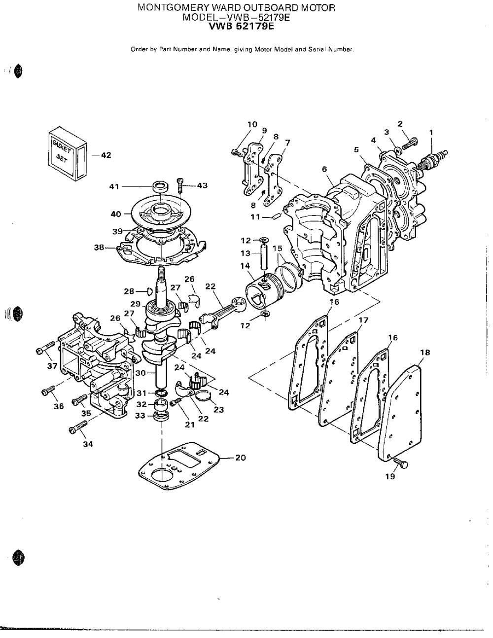 medium resolution of mercury 52179e outboard motor power head page 2 diagram