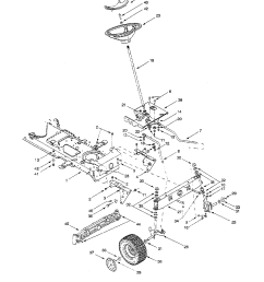 looking for mtd model 604 front engine lawn tractor repairmtd 604 steering assembly diagram [ 1224 x 1584 Pixel ]