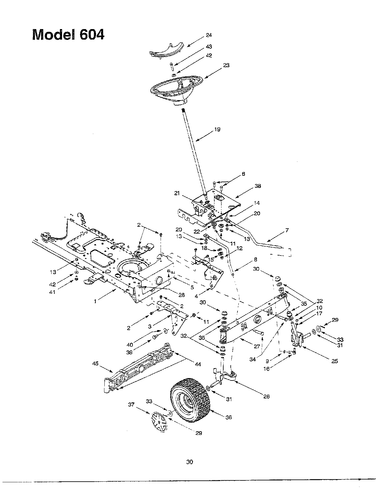 hight resolution of looking for mtd model 604 front engine lawn tractor repairmtd 604 steering assembly diagram