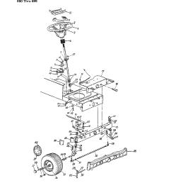 mtd 690 thru 699 steering wheel frt wheel chart diagram [ 1224 x 1584 Pixel ]