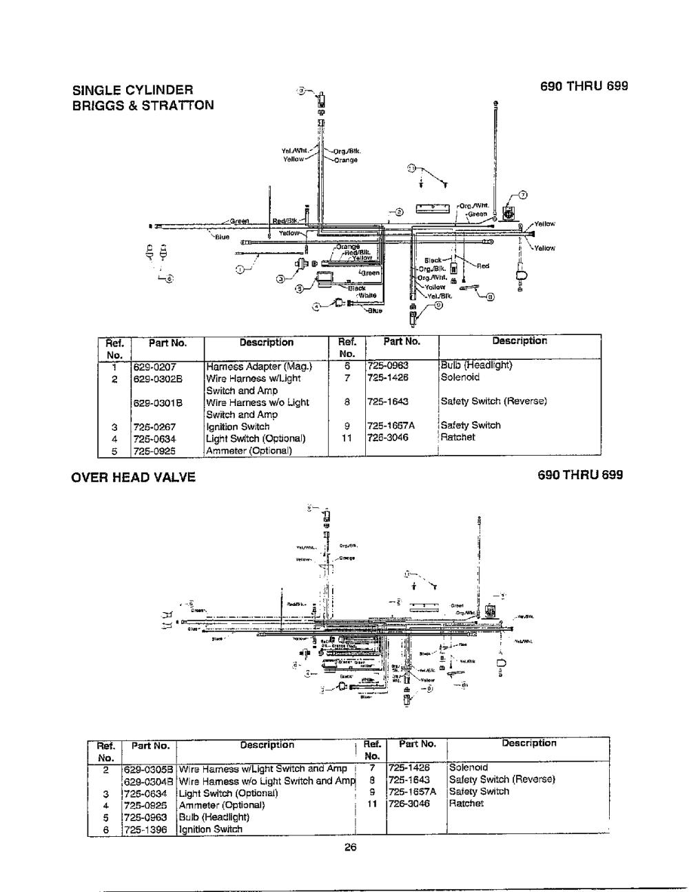 medium resolution of mtd 690 thru 699 electrical single cylinder valve diagram