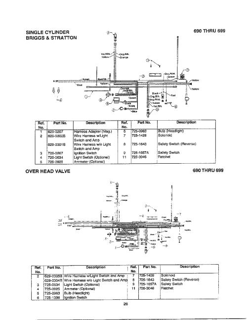 small resolution of mtd 690 thru 699 electrical single cylinder valve diagram