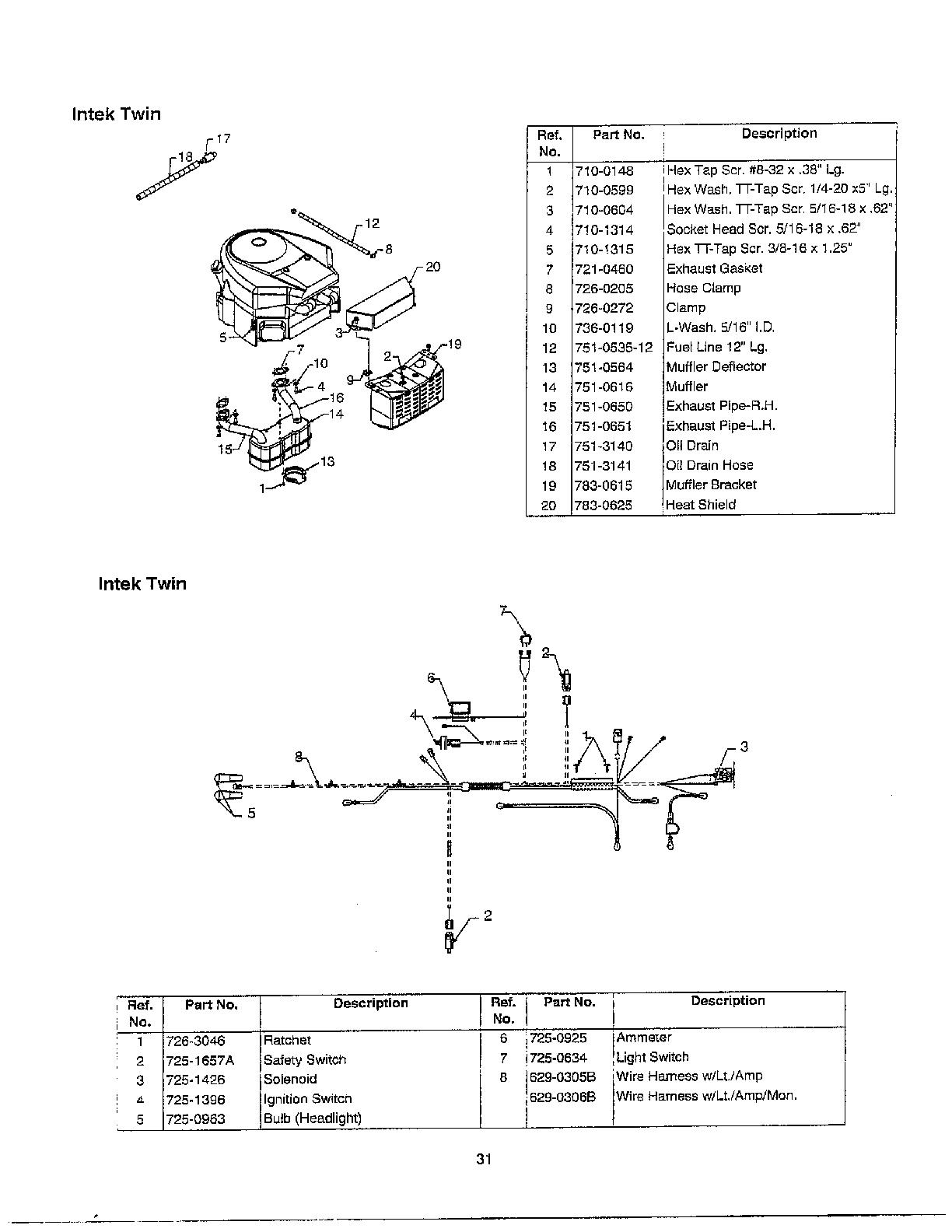 hight resolution of mtd 690 thru 699 muffler electrical page 2 diagram