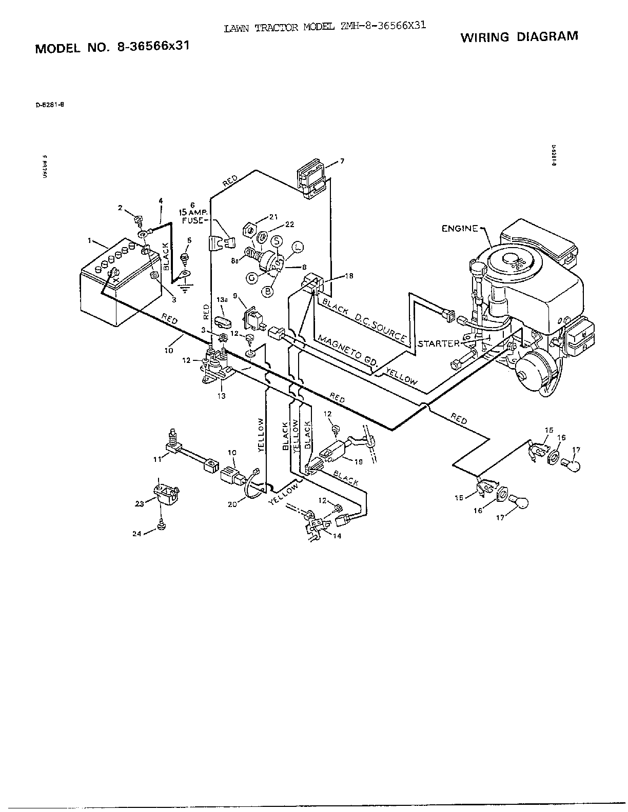 Wiring Diagram Murray Riding Mower: Murray hp inch rear