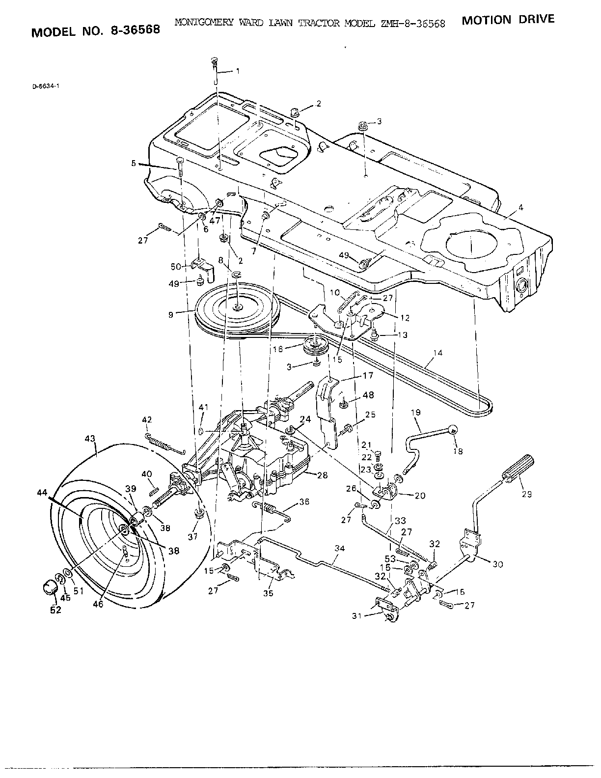 hight resolution of murray 8 36568 motion drive diagram