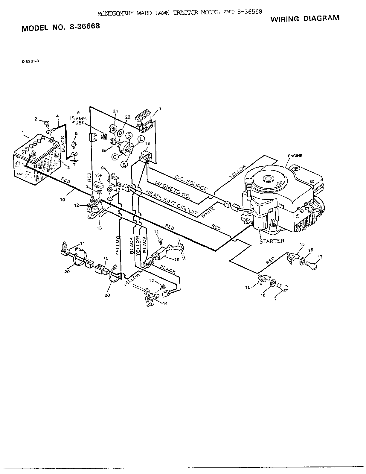medium resolution of wiring diagram diagram and parts list for murray ridingmowertractor wiring diagram today
