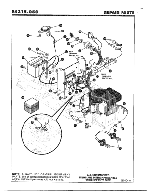 Noma Riding Lawn Mower Parts Diagram  WIRING INFO