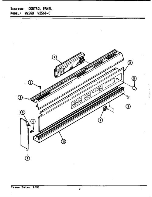 small resolution of jenn air w256b control panel w256 w256 diagram