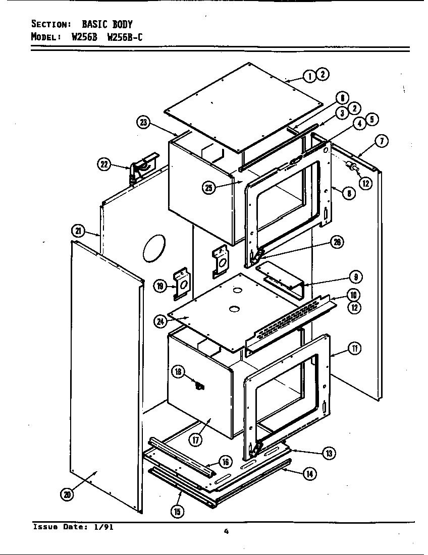 medium resolution of jenn air w256b body w256 w256 diagram