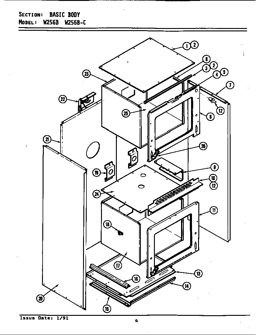 hight resolution of jenn air w256b body w256 w256 diagram